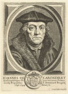 Cornelis van Caukercken | Portret van Johannes de Carondelet aartsbisschop van Palermo, Cornelis van Caukercken, c. 1640 - 1680 |