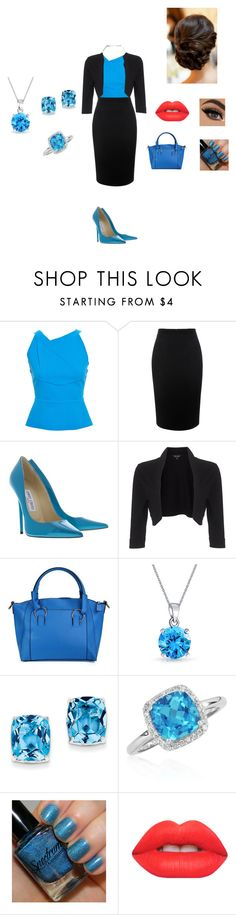 """""""Office"""" by daniela-nechifor on Polyvore featuring Roland Mouret, Alexander McQueen, Jimmy Choo, Phase Eight, Bling Jewelry, Kevin Jewelers, Belk & Co. and Lime Crime"""