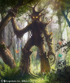 My Fantasy Art collection Forest Creatures, Magical Creatures, Fantasy Creatures, Tolkien, Fantasy Kunst, Fantasy Art, Dungeons And Dragons, Tree People, Nature Spirits