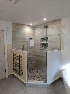 Natural Contemporary Master Bathroom throughout Bathroom Ideas Contemporary Natural - Best Home & Party Decoration Ideas Master Bathroom Shower, White Bathroom Tiles, Modern Master Bathroom, Modern Farmhouse Bathroom, Diy Shower, Contemporary Bathrooms, Bathroom Ideas, Washroom, Bath Ideas