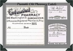 Antique Graphics Wednesday - Vintage Pharmacy Labels - Knick of Time