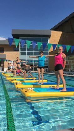 Workout GOALS! Schooling some fish ~ with PIF Master Trainer, Audrey Lee   #livelaughpaddle #poolfitness #floatintofitness #wateryoga #poolyoga #yoga #supfitness #fitness #supyogateachertraining #yogatraining #outdoorfitness #supyogacertification #paddlefitness #girlgetoutside #yogateachertraining #paddlesurf #fit #yogateacher #mermaidyogis #mermaidyoga