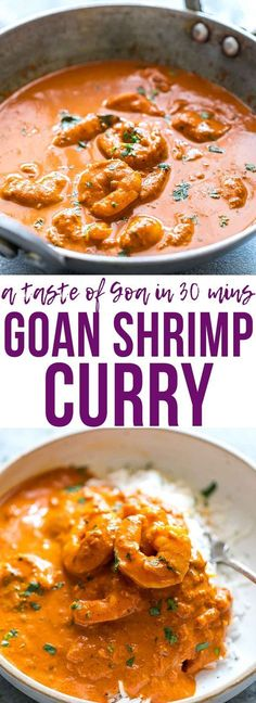 Goan Prawn Curry or Shrimp Curry with Coconut is a spicy, sour Indian curry that comes from Goa and is also called Ambot Tik. Ready in 30 minutes it's a simple Indian curry that anyone can make! Perfect for fast, weeknight dinner. Gluten Free. via @my_foodstory