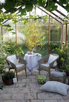 How to make the small greenhouse? There are some tempting seven basic steps to make the small greenhouse to beautify your garden. Indoor Greenhouse, Backyard Greenhouse, Small Greenhouse, Indoor Garden, Outdoor Gardens, Home And Garden, Greenhouse Ideas, Inside Garden, Small Gardens
