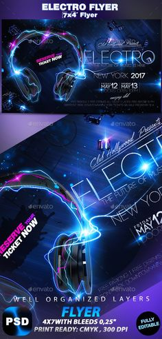 Electro Flyer  Electro Music Font Logo And Fonts