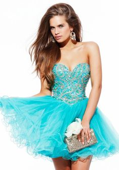 Robe De Soiree Courte New Custom Made Blue Tulle Shiny Beading Sequined Crystal Short Cocktail Dress Prom Party Gowns Quince Dresses, 15 Dresses, Pretty Dresses, Blue Dresses, Beautiful Dresses, Short Dresses, Formal Dresses, Dama Dresses, Reception Dresses