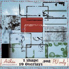 FREE Arthéa créa: Overlays en téléchargement [ 57 Overlays ]