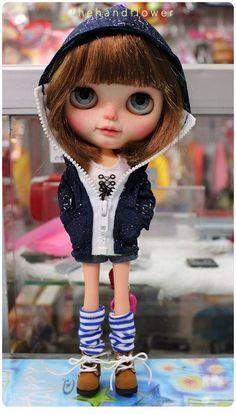 OOAK Custom original Takara Blythe doll Nicky by Thehandflower