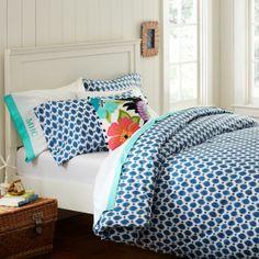 Ikat Dot Organic Duvet Cover + Pillowcases | PBteen