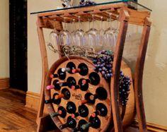 Estante de vino de mesa por FALLENOAKDESIGNS en Etsy