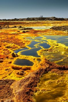 Sulphur lakes in Afar - Ethiopia