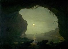 Joseph Wright, - A Cavern, Moonlight