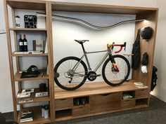 More than just bikes, EuroBike features all manner of bike-related items including this bicycle storage solution for the home.