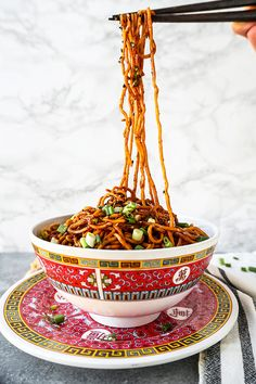 Aromatic Sour Egg Noodles - Food lovers, you will get a kick out of this dish! Chinese food recipes, Asian noodle recipes, Easy Chinese recipes, egg noodle recipes, healthy Asian dinner recipes | pickledplum.com