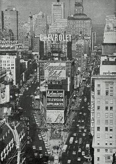 Times Square NYC, 1960.