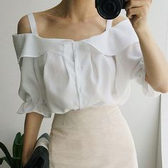 Buy chuu Ruffled Off-Shoulder Blouse at YesStyle.com! Quality products at remarkable prices. FREE WORLDWIDE SHIPPING on orders over US$35.