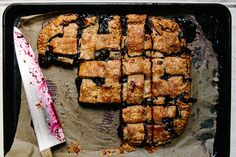Blueberry and Rye Slab Pie, a recipe on Food52