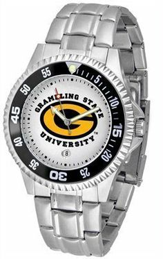 Grambling Tigers Suntime Competitor Game Day Steel Band Watch - NCAA College Athletics by SunTime. $69.95. This popular watch features a colorful rotating timer/bezel, Sturdy Steel strap, quartz accurate movement and your school logo boldly displayed on the dial. 1 year limited manufacturer warranty