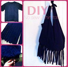 diy no sew bag from tshirt