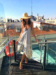 pool day - mytenida One Shoulder, Shoulder Dress, Pool Days, Boho Look, Hippie Chic, Bohemian, Dresses, Fashion, Vestidos
