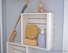 How to - bathroom storage