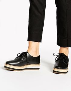 ALDO Foto Black Flatform Shoes