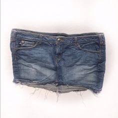 🎀Jean Short Skirt Worn Couple Times | Practically New | Frayed Bottom | Distressed Look | Hits Mid Thigh | Cute With Sexy Top Or T-Shirt | Great With Heels Or Sneakers Or Flip Flops | 100% Cotton | About 12ins Long | 🚫Trades | Feel Free To Ask Questions 🙋| More 📷 Upon Request | Check Out Daily Deal For Price Reduction ❤| torrid Skirts Mini
