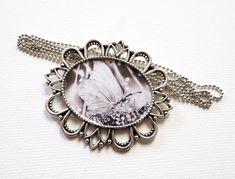Halskette Damen Auge Silberfarbene Kette Barock