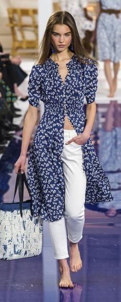 Ralph Lauren Spring Summer 2018 – Kleidung – www.c … – © Imax … - Freizeitkleidung 2019 Trendy Dresses, Casual Dresses, Casual Outfits, Fashion Outfits, Diy Outfits, Casual Jeans, Fashion Clothes, Fashion Ideas, Spring Fashion Trends