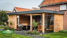 Overkapping Breukelen |van Viegen Handelsonderneming Patio Design, Garden Design, Exterior Design, Outdoor Garden Rooms, Outdoor Living, Backyard Cabin, Home Greenhouse, House Extension Design, Contemporary Patio