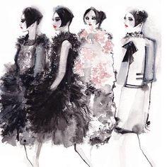 Chanel haute couture fw 15-16  #fashion  #fashionillustrator  #fashionillustration  #illustration #chanel @chanelofficial