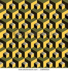 possible 3d illusion mitered square idea
