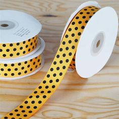 """25 Yards 7/8"""" DIY Orange Grosgrain Black Polka Dot Ribbon Wedding Party Dress Favor Gift Craft Decoration   eFavorMart / Such a hip unison of two most popular and favorite styles; Peppy Polka Dots and Gorgeous Grosgrain! Grosgrain ribbon is one of the most preferred and demanded ribbons for decorations, embellishments, crafting, and accenting purposes. Premium quality nylon, cotton, and synthetic fabric materials are used to craft this plain weave corded fabric with a textured appearance and…"""