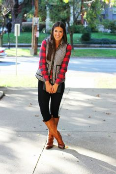 herringbone + buffalo plaid #jcrew old navy zip pocket jeans and kasia boots