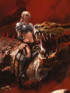 Dragon and his girl.
