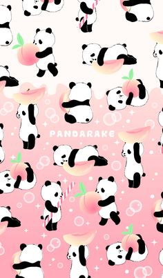 From another pinner: The peach soda taste version of PANDARAKE. Please have the person who would like to taste peach soda feeling of superficial love in summer! Peach Wallpaper, Pop Art Wallpaper, Cute Wallpaper Backgrounds, Wallpaper Iphone Cute, Galaxy Wallpaper, Cute Panda Wallpaper, Kawaii Wallpaper, Panda Wallpapers, Cute Cartoon Wallpapers