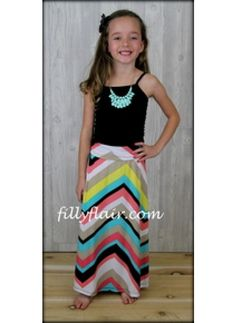 Chevron Girls maxi skirt  $29.99