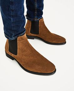 Image 4 of LEATHER CHELSEA BOOTS from Zara