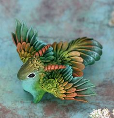 Fantasy and animal sculpture by Evgeny Hontor. Cute Polymer Clay, Cute Clay, Polymer Clay Crafts, Cute Fantasy Creatures, Magical Creatures, Fantasy Dragon, Fantasy Art, Dragon Miniatures, New Dragon