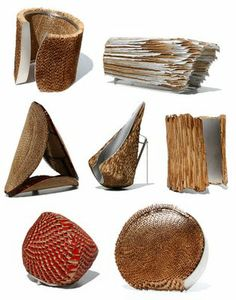 RITSUKO OGURA (Japan) - corrugated cardboard jewellery