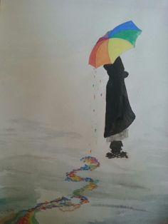 Rainy day... colour splash..#drawingisra♡♡ Colour Splash, My Drawings, Art Photography, Painting, Color, Colour, Fine Art Photography, Painting Art, Paintings