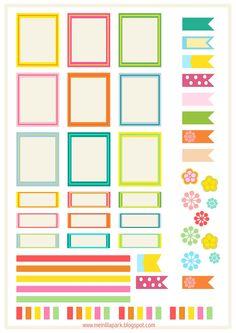 MeinLilaPark – DIY printables and downloads: Free printable bright planner stickers - ausdruckbare Etiketten - freebie