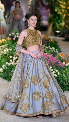 From Concept Sarees to Perky Lehengas: Our Favorites from India Couture Week 2018 Indian Lehenga, Lehenga Choli, Anarkali, Bollywood Lehenga, Sari, Lehenga Blouse, Sabyasachi, Lehenga Designs, Saree Blouse Designs