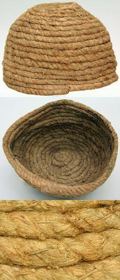 Cerveliere (Cap Worn Under Mail), 15th century, German, Rope, Met Museum.