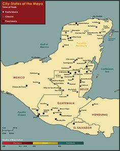 Map of Maya City-States. Image Credit: Chabot Space & Science Center.