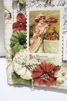 A family recipe album makes a great gift!!  Learn how to make one from our Thanksgiving Blog Hop!  Plus, look for Authentique paper and Petaloo Darjeeling flowers and Vintage Dazzlers to finish the look!