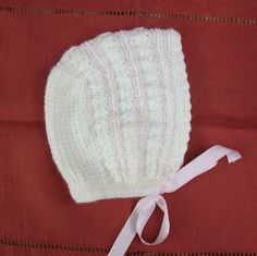 Blog Abuela Encarna Diy Crafts Knitting, Knitting For Kids, Crochet Projects, Baby Bonnets, Lace Knitting, Baby Booties, Baby Wearing, Crochet Baby, Knitted Hats