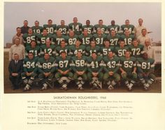 """""""In the won the Grey Cup for the first time with running back George Reed sealing the win with a touchdown. The game was called with 4 seconds left on the clock due to fans flooding the field. See Reed's jersey at our exhibit at Saskatchewan Roughriders, Grey Cup, Sport Hall, Running Back, Exhibit, Green Colors, First Time, Twitter Sign Up, Fans"""