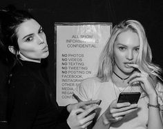 K is for Kendall Jenner C is for Candice Swanepoel