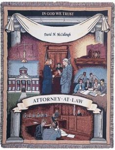 Personalized Attorney Law Tapestry Throw